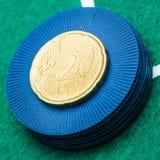 euro de 20 centavos Imagen de archivo libre de regalías