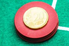 euro de 20 centavos Imágenes de archivo libres de regalías