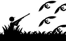 Euro de chasse Photographie stock