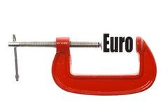 Euro de compression Photo libre de droits
