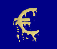 Euro de derretimento Fotos de Stock