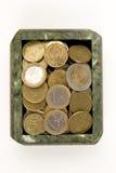 Euro in de doos Royalty-vrije Stock Foto
