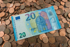 euro de 20 factures Photo stock