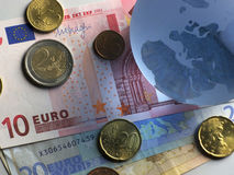 Euro de globe Images libres de droits