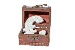 Euro de granit dans le coffre Photo stock