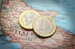 Euro de Italia Imagen de archivo libre de regalías