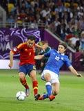 EURO de l'UEFA 2012 derniers jeux Espagne contre l'Italie Photos libres de droits