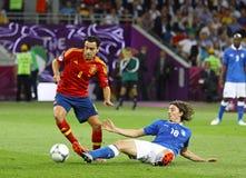 EURO de l'UEFA 2012 derniers jeux Espagne contre l'Italie Photographie stock