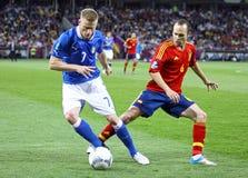 EURO de l'UEFA 2012 derniers jeux Espagne contre l'Italie Photo libre de droits