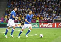 EURO de l'UEFA 2012 derniers jeux Espagne contre l'Italie Images stock