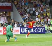 EURO de l'UEFA 2012 derniers jeux Espagne contre l'Italie Photographie stock libre de droits