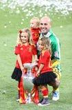 EURO de l'UEFA 2012 derniers jeux Espagne contre l'Italie Image libre de droits