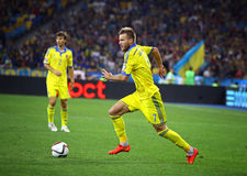 EURO de l'UEFA 2016 jeux de qualification Ukraine contre la Slovaquie Photos libres de droits