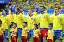 EURO 2016 DE L'UEFA : La Suède v Belgique Image libre de droits