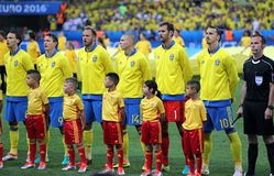 EURO 2016 DE L'UEFA : La Suède v Belgique Photographie stock libre de droits