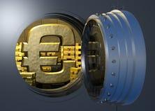 Euro de la cámara acorazada del oro ilustración del vector