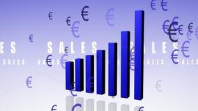 Euro de la carta de barra stock de ilustración