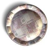 Euro de la empanada del dinero Imagen de archivo