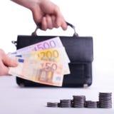 Euro de la ganancia Foto de archivo libre de regalías