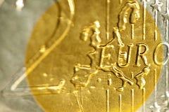 Euro de la moneda 2 Imágenes de archivo libres de regalías
