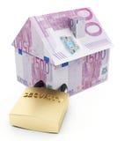 Euro de la protección de la casa Imagen de archivo