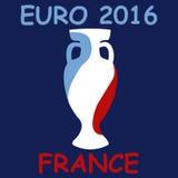 Euro 2016 de la taza del campeonato Imágenes de archivo libres de regalías