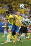 EURO 2016 DE LA UEFA: Suecia v Bélgica Foto de archivo libre de regalías