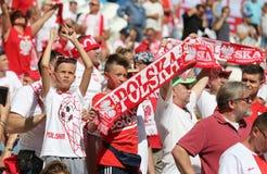 EURO 2016 DE LA UEFA: Ucrania v Polonia Imagen de archivo