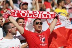 EURO 2016 DE LA UEFA: Ucrania v Polonia Imágenes de archivo libres de regalías