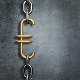 Euro de maillon de chaîne Image libre de droits