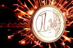 Euro de pièce de monnaie Images stock