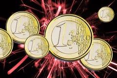 Euro de pièce de monnaie Photos stock