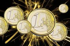 Euro de pièce de monnaie Photographie stock libre de droits