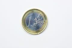 euro de pièce de monnaie Photo stock