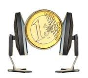 euro de pièce de monnaie Image stock