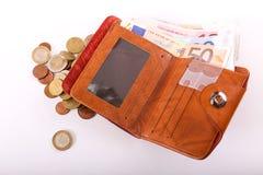 Euro de portefeuille Images libres de droits