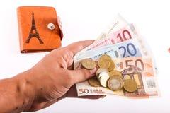 Euro de portefeuille Photo stock