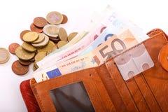 Euro de portefeuille de voyage - France Photos libres de droits