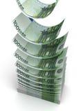 Euro de queda Fotografia de Stock Royalty Free