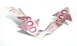 Euro de Tendenspijlen van de Bankbiljetterugwinning royalty-vrije illustratie