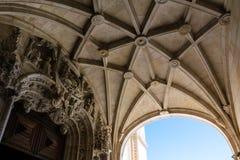 Euro de visita turístico de excursión del destino de la arquitectura del DOS Jeronimos de Mosterio Fotos de archivo