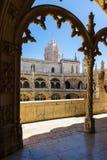 Euro de visita turístico de excursión del destino de la arquitectura del DOS Jeronimos de Mosterio Fotografía de archivo libre de regalías