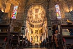 Euro de visita turístico de excursión del destino de la arquitectura del DOS Jeronimos de Mosterio Fotografía de archivo