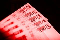 Euro debito Fotografia Stock Libera da Diritti