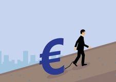 Euro Debt Royalty Free Stock Image