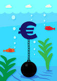 Euro Debt Stock Images