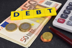 Euro Debt Stock Photography