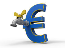 Euro deflation concept Royalty Free Stock Photography