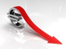 Euro deflazione Immagini Stock Libere da Diritti