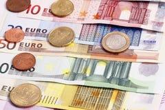 Euro dei soldi Fotografia Stock